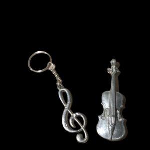 Muzieksleutelhanger